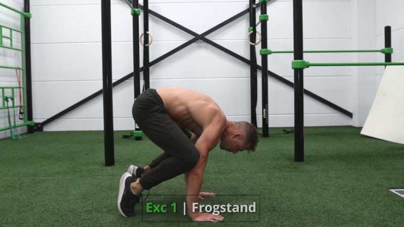 Frogstand to handstand exercise 1