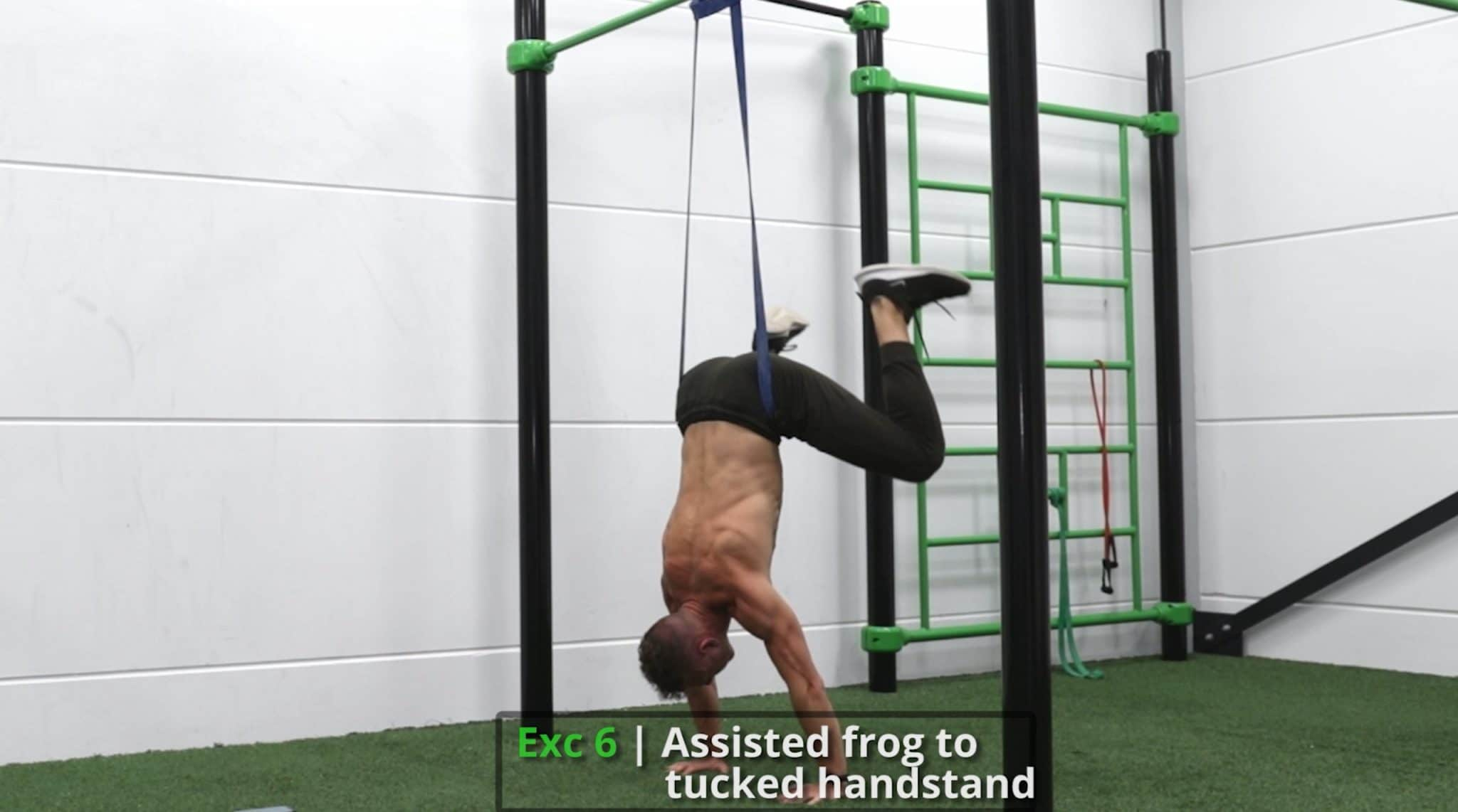 frogstand to handstand with help