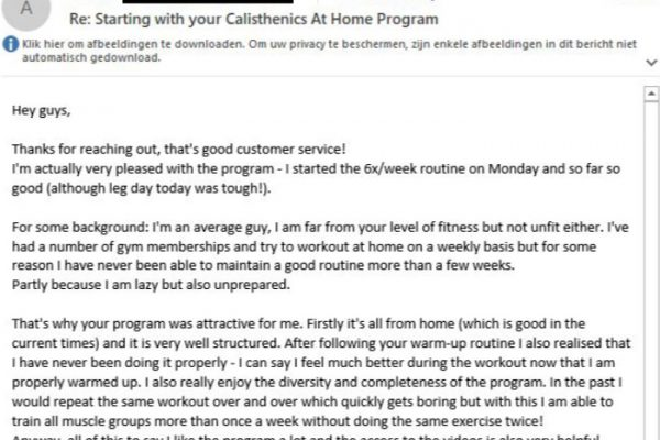 Adrien Calisthenics at Home Workout Plan