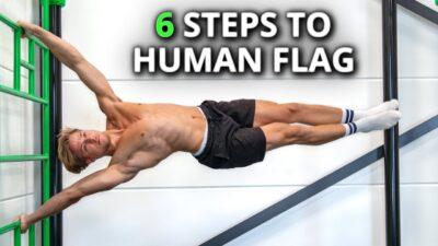 Human Flag Progression Exercises
